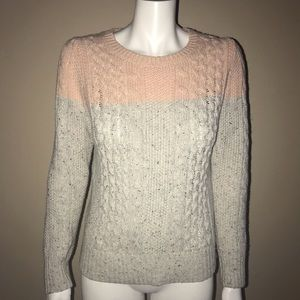 Banana republic speckled knit ombré crew sweater
